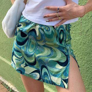 Honet - Print Mini Skirt