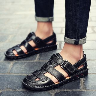 Auxen - 真皮多带凉鞋