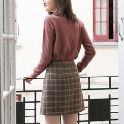 Hunspelt - Plaid A-Line Skirt