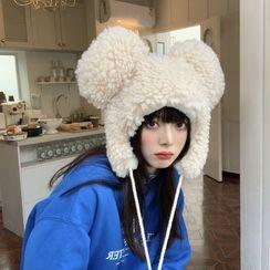 FROME - 熊耳朵抓毛雪帽