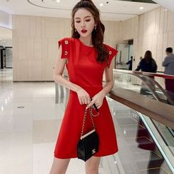 Meatacci - Sleeveless A-Line Mini Dress