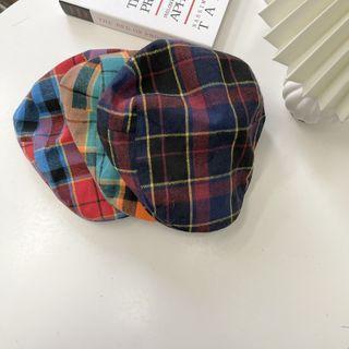 4.4 STUDIO - Plaid Newsboy Cap