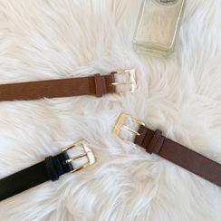 DABAGIRL - Buckled Pleather Belt