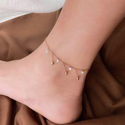 Infini - Bead Dangle Rhinestone Anklet