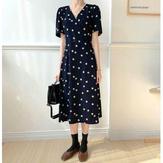 KiTi - Short-Sleeve Flower Printed Dress