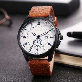Cronos - Roman Numeral Fabric Strap Watch