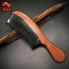 Woodiland - 木制及牛角髪梳