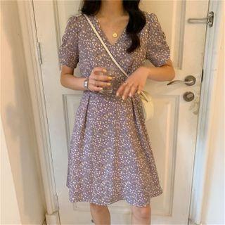 CaraMelody - Short-Sleeve Floral Dress