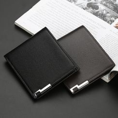 ETONWEAG(エトンウィーグ) - Plain Faux Leather Short Wallet
