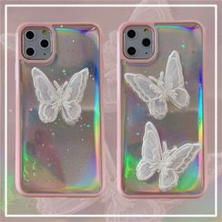 KeCase - Lace Butterfly Iridescent Phone Case - iPhone 11 Pro Max / 11 Pro / 11 / SE / XS Max / XS / XR / X / SE 2 / 8 / 8 Plus / 7 / 7 Plus