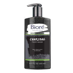 花王 - Biore - Mens Charcoal Face Wash Pump