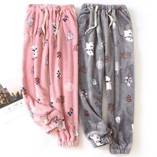 MelMount - Couple-Matching Printed Pajama Pants