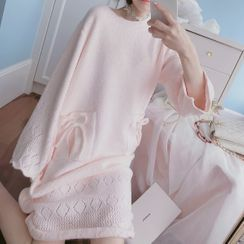 Ifish House - Midi Knit Sleep Dress