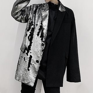 ANCHO - Sequined Single-Breasted Blazer