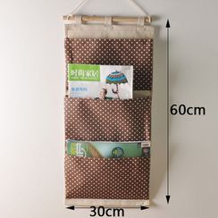 Hyole - Dotted Fabric Hanging Organizer