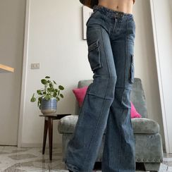 BrickBlack - Cargo Boot-Cut Jeans