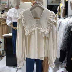 Kaypray - 蕾丝边衬衫