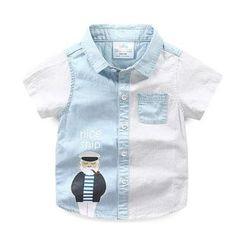 Seashells Kids - Kids Short-Sleeve Paneled Shirt