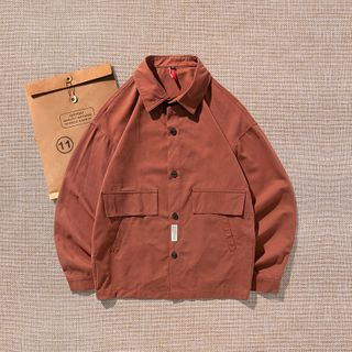 SOYISU - Long-Sleeve Plain Shirt
