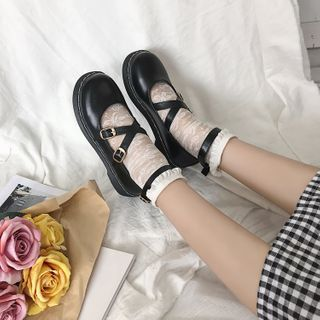 Bolitin - 交叉瑪莉珍平跟鞋