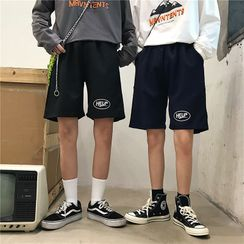 2DAWGS - Couple Matching Lettering Shorts