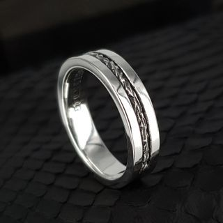 Sterlingworth - COUPLE Lined Sterling Silver Band Ring