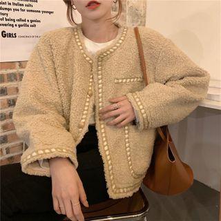 Moon City - Single-Breasted Fleece Jacket