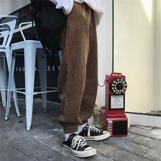 Malnia Home - Couple Matching Corduroy Jogger Pants