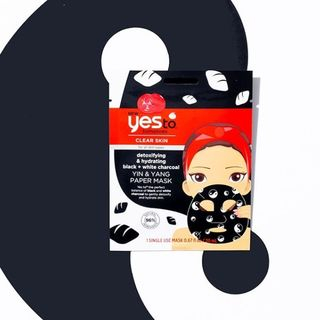 Yes To - Yes To Tomatoes: Yin & Yang Detoxifying & Hydrating Black + White Charcoal Paper Mask (Set of 6)
