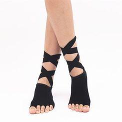 AUM - Half  Toe Yoga / Bellarina Grip Socks