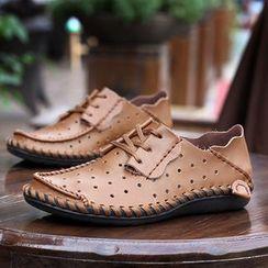 WeWolf - 真皮飾縫線日常鞋