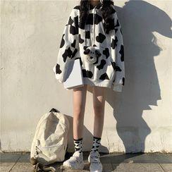 Rhodo - 奶牛印花连帽衫