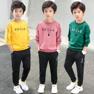 PAM - Kids Set: Letter Sweatshirt + Harem Pants