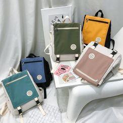 Gokk - Color Block Flap Backpack