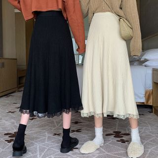 Dute - Knit Pleated Midi Skirt