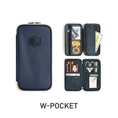 BABOSARANG - 'W-Pocket' Patched Zipped Pencil Case