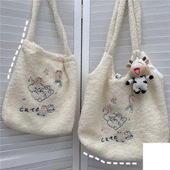 Anchara - Embroidered Fleece Tote Bag
