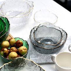 miss house - Irregular Golden Trim Glass Bowl