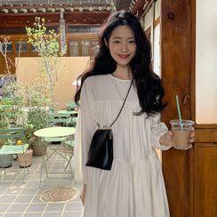FROMBEGINNING - Tiered Monotone Babydoll Dress