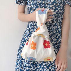 Bumblewiz - Print Top Handle Canvas Lunch Box  Bag