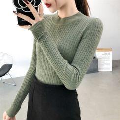 Carmenta - Long-Sleeve Mock-Neck Knit Top