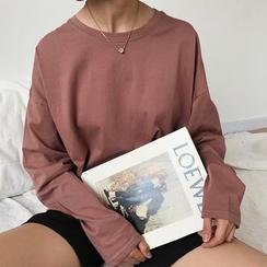Moon City - Camiseta de manga larga y cuello redondo