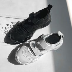 DEEPNY - Lug-Sole Self-Fastener Sneakers