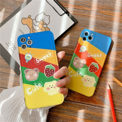 Witheart - Cartoon Print Mobile Case - iPhone 11 Pro Max / 11 Pro / 11 / XS Max / XS / XR / X / 8 / 8 Plus / 7 / 7 Plus / 6s / 6s Plus