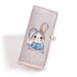 Lozynn - Rabbit Print Fabric Wallet