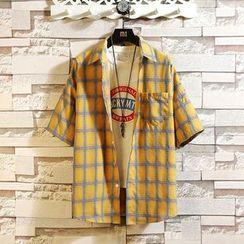 Ferdan - Plaid Short-Sleeve Shirt