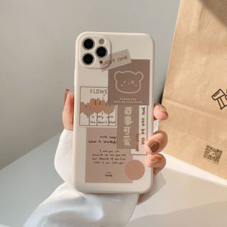 kloudkase - Bear Print Phone Case - iPhone 12 Pro Max / 12 Pro / 12 / 12 mini / 11 Pro Max / 11 Pro / 11 / SE / XS Max / XS / XR / X / SE 2 / 8 / 8 Plus / 7 / 7 Plus