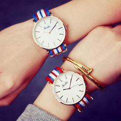 Moska - Striped Canvas Strap Watch