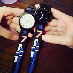InShop Watches - Printed Silicone Strap Watch