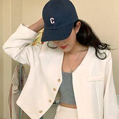 FROMBEGINNING - Letter Cotton Baseball Cap